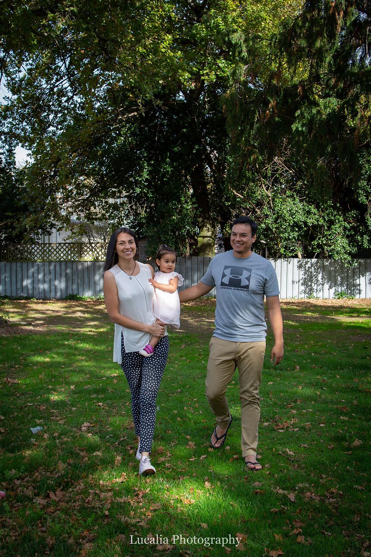 family walking under trees, Carterton, Wairarapa family photographer