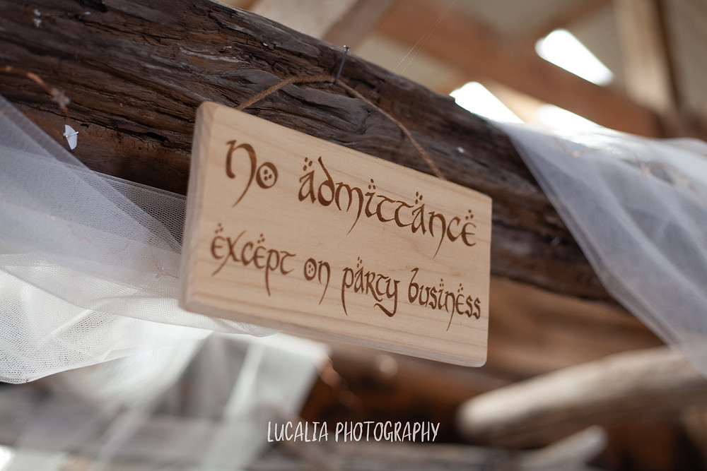 lord of the rings wedding sign,  Castlepoint Wairarapa wedding, Lucalia Photography