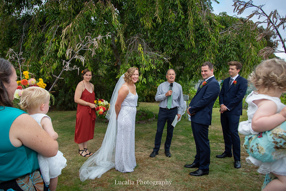 wedding ceremony with children, Wairarapa wedding photographers