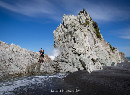 Wairarapa wedding photographer: Sian and Kris' White Rock engagement part 1