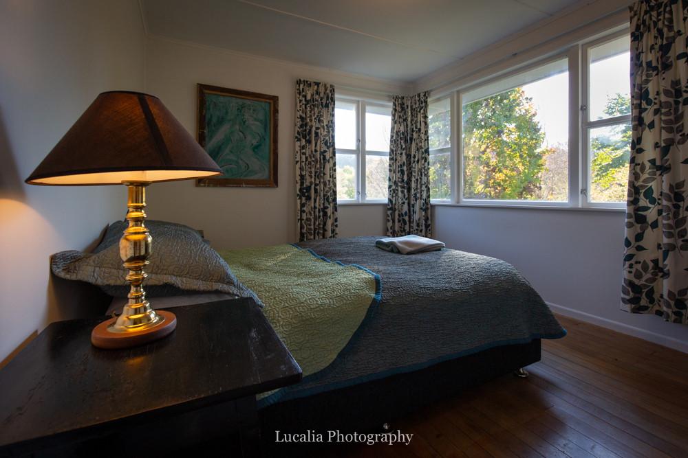 double bedroom at High Peaks Farm Stay, Mangamahu, Manawatu-Wanganui, New Zealand