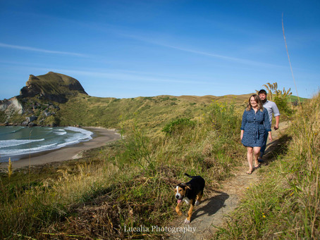 Wairarapa engagement photography: Lauren and Ant, Castlepoint