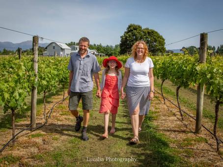 Wairarapa family photography: Le Grá vineyard and winery