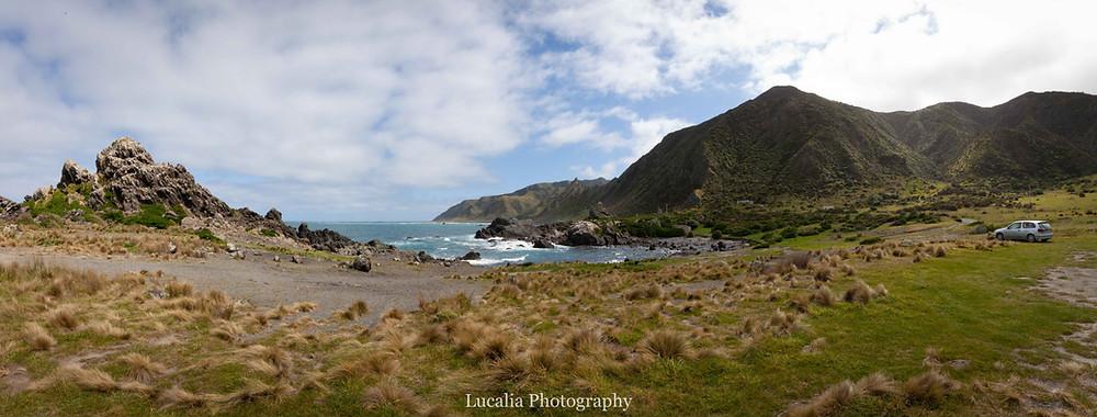 Palliser Bay landscape panorama, Wairarapa photographer, New Zealanda