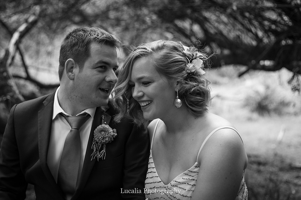 married couple smiling, Wairarapa wedding photographers