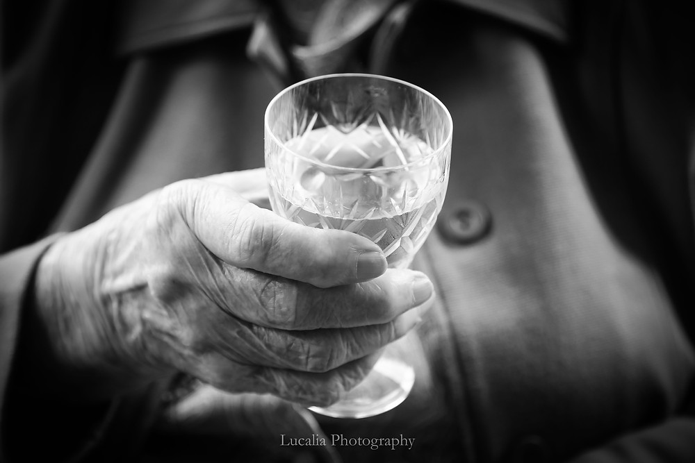 Lucalia Photography Top 30 Australasian Top Emerging Photographer 2018 grandmother holding vintage cut crystal wine glass