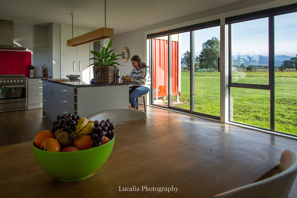 container home kitchen, Wairarapa