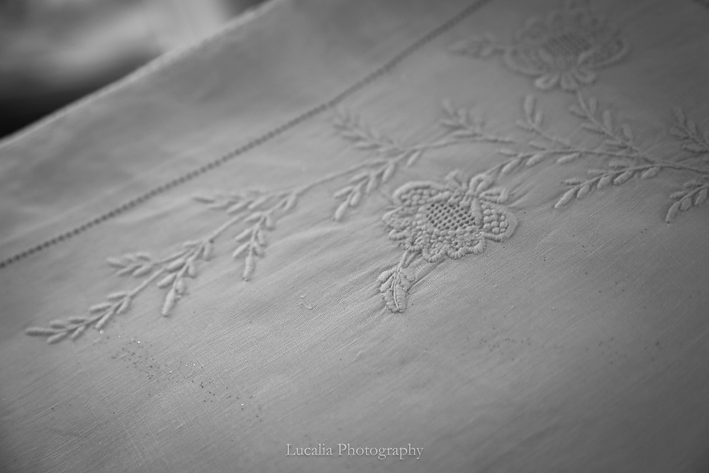 Lucalia Photography Top 30 Australasian Top Emerging Photographer 2018 vintage white linen tablecloth embroided with flowers