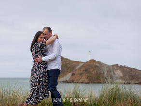 Castlepoint engagement photos, Wairarapa Brendon and Arleen