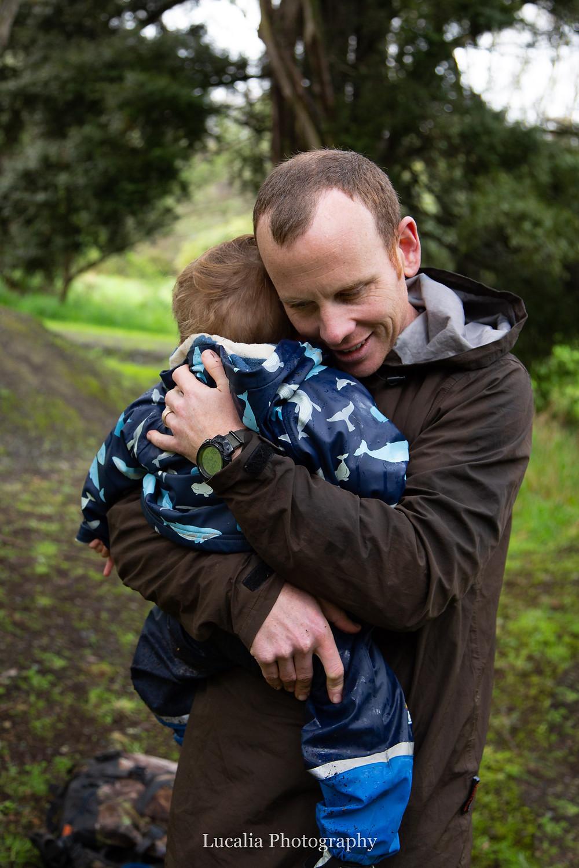 father and son hugs, Wairarapa family photographer