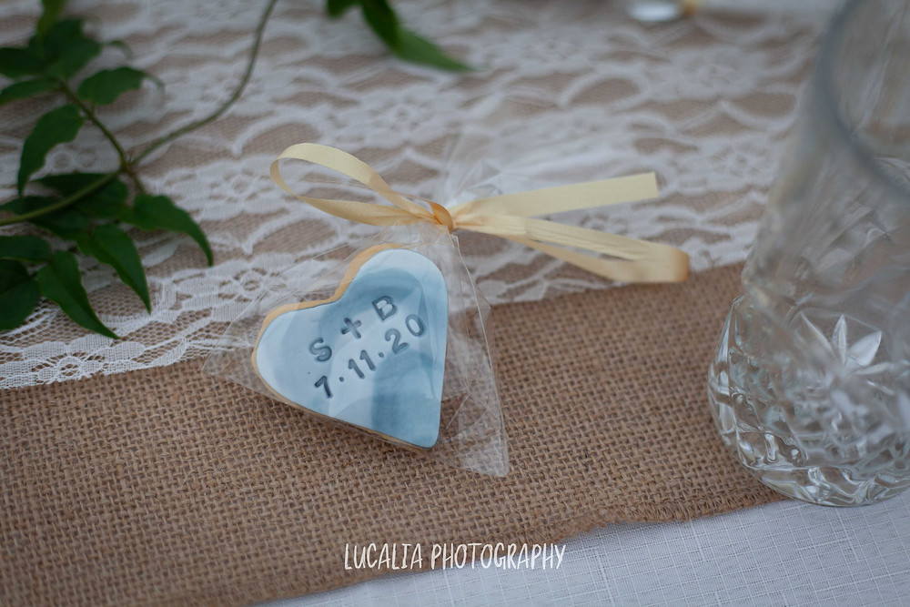 wedding favour biscuits, Wedding reception, Waimeha Bar and Grill, Ngawi Wairarapa wedding photographer