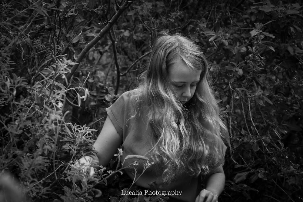 fiancee amongst blackberry bush, Featherston Wairarapa