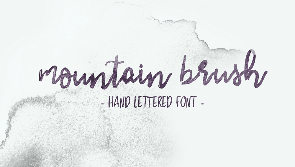 mountain brush hand lettered font, Wairarapa photographer