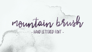 mountain brush hand lettered font, Wairarapa photographer