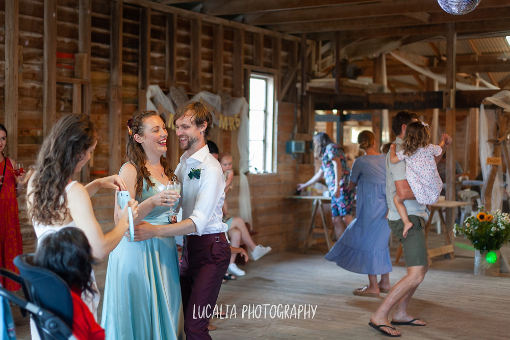 whole family dancing, The Woolshed wedding venue, Castlepoint Wairarapa, Lucalia Photography