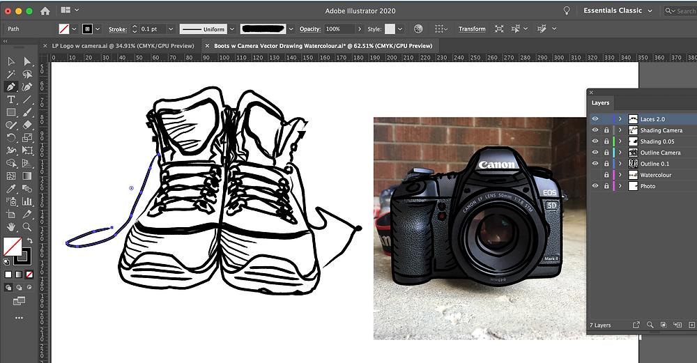 Lucalia Photography logo work in progress