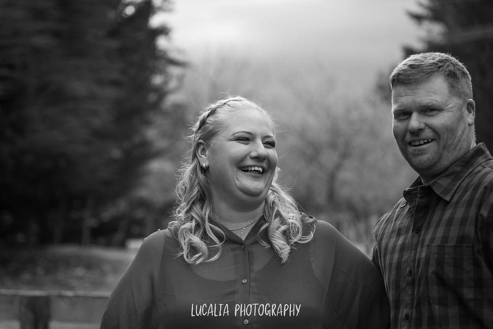 engaged couple bride laughing, Wairarapa wedding photographer