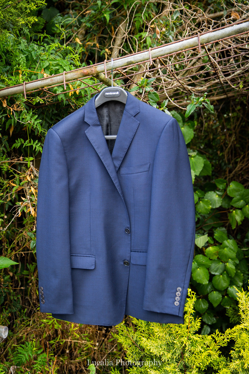 groom's jacket by Rembrandt, Wairarapa wedding photographers