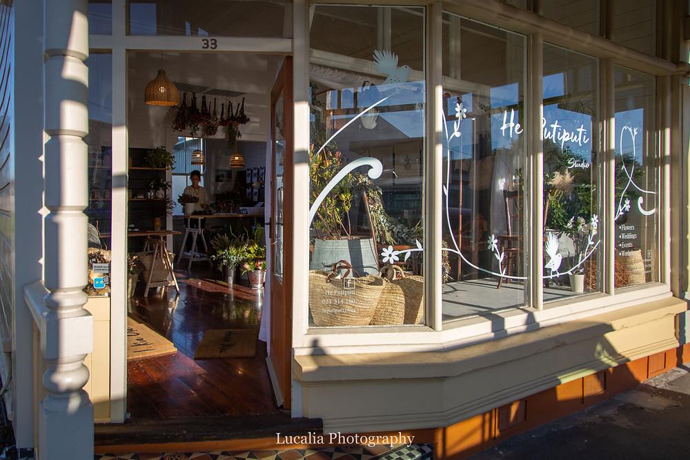He Putiputi wedding florist studio front, Wairarapa