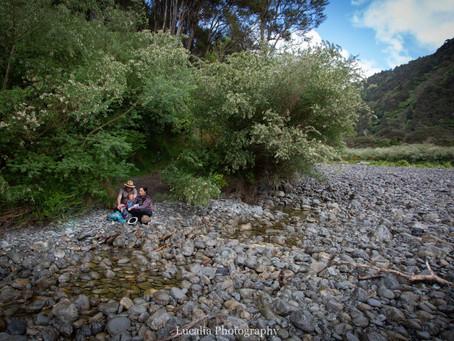 Wairarapa Family Photography: Rissa, Ben and Jasper at Tararua Forest Park