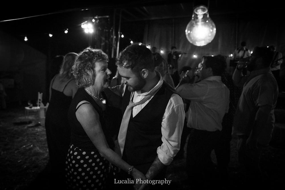 guests dancing at a wairarapa wedding reception