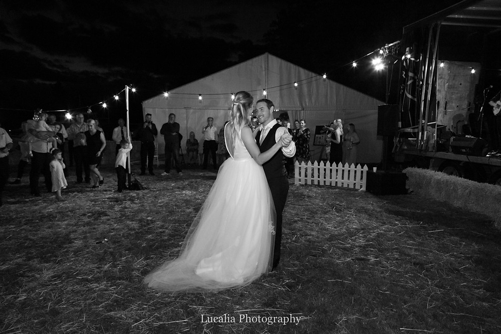 first dance outside at night, Wairarapa
