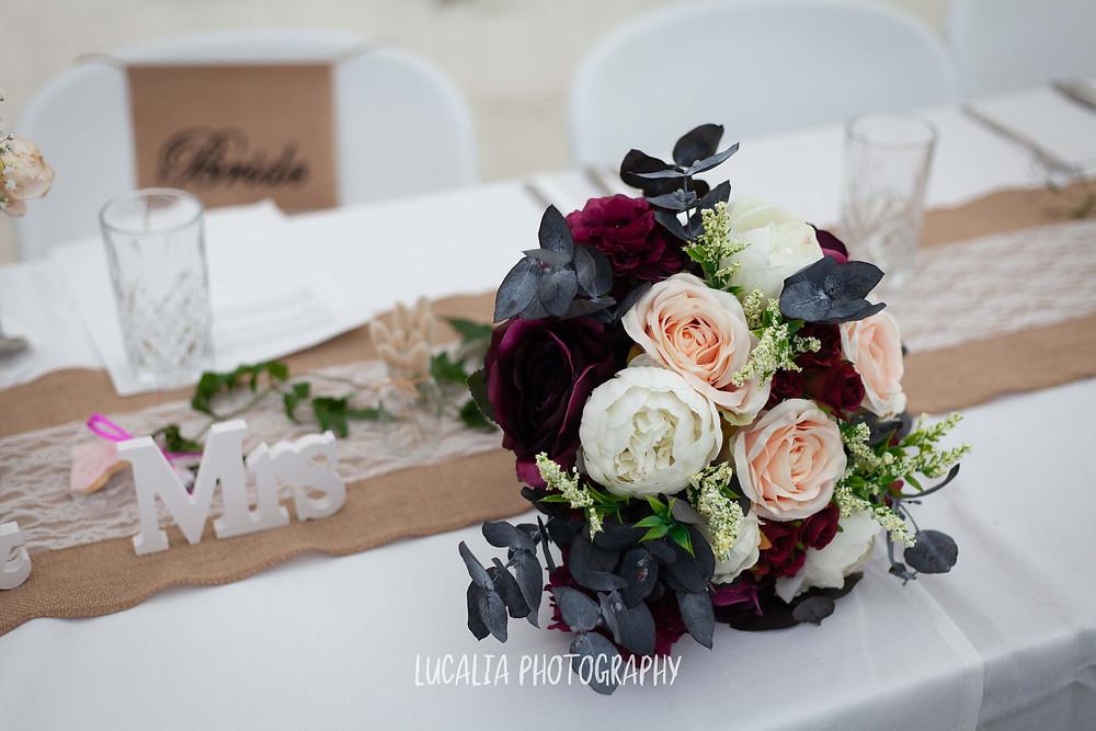 wedding flowers, Flower Girl, Wedding reception, Waimeha Bar and Grill, Ngawi Wairarapa wedding photographer