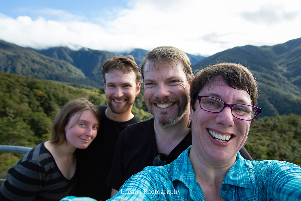 selfie of friends at Rocky Lookout, Mt Holdsworth, Wairarapa, New Zealand