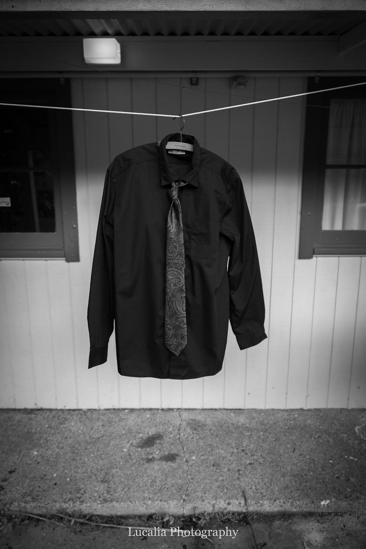 groom's suit hanging up, Wairarapa wedding photographer