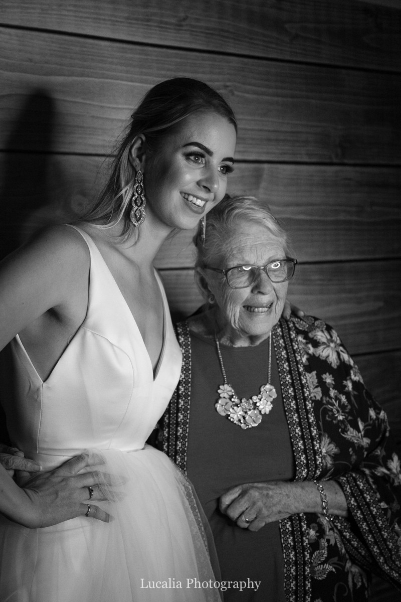 bride and her grandmother using the photobooth, Wairarapa