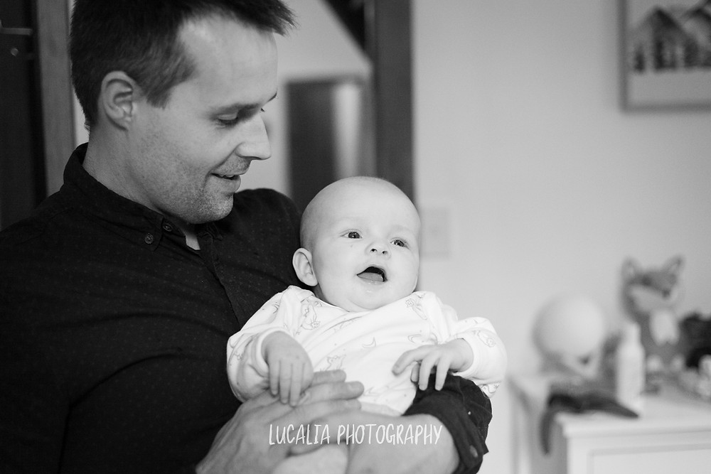 dad and baby sharing a laugh, Mount Holdsworth, Wairarapa family photographer