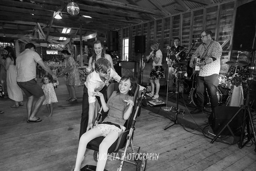 everybody dance now, Castlepoint Wairarapa wedding, Lucalia Photography