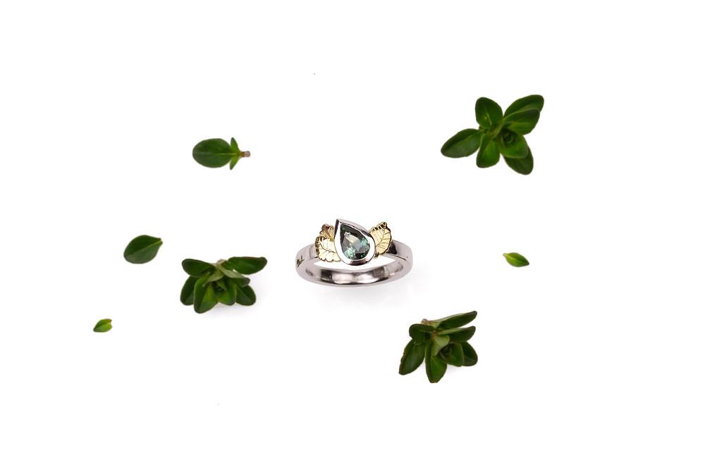 Northofagus gunnii engagement ring by Emily Snadden Design, Hobart, Tasmania, Australia