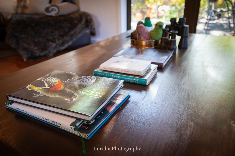 coffee table books, High Peaks Farm Stay, Mangamahu, Manawatu-Wanganui, New Zealand