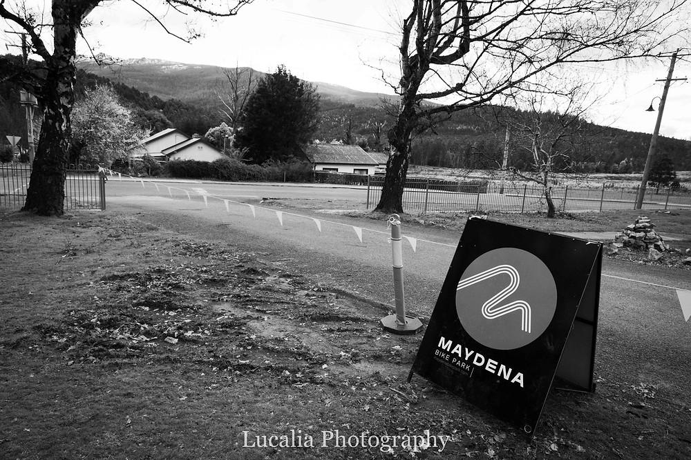 Entrance to the Maydena Bike Park, Maydena, Derwent Valley