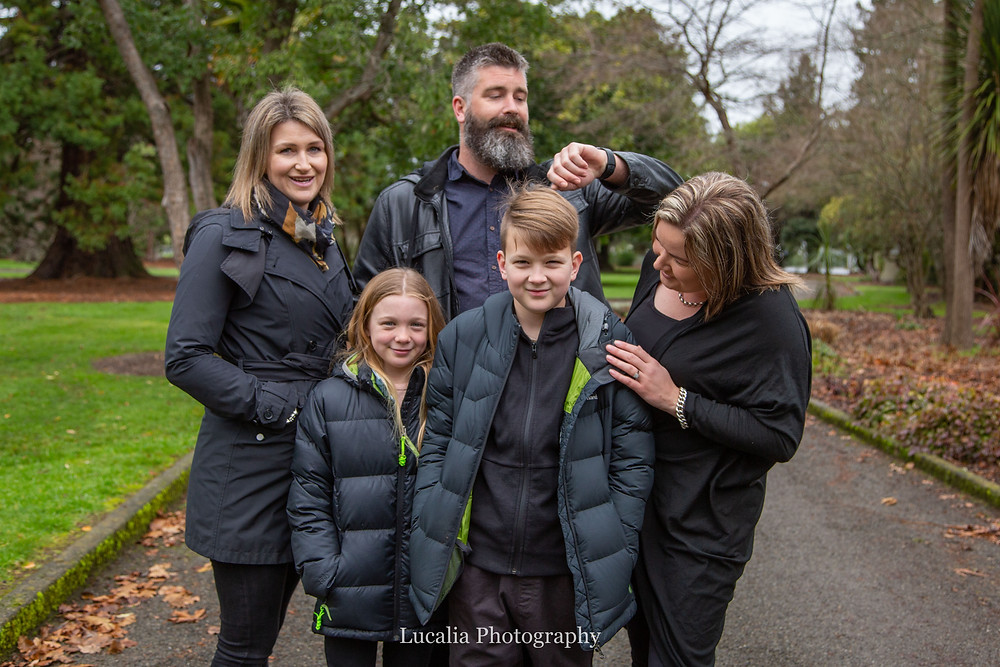 family photo in a park, Wairarapa family photographer