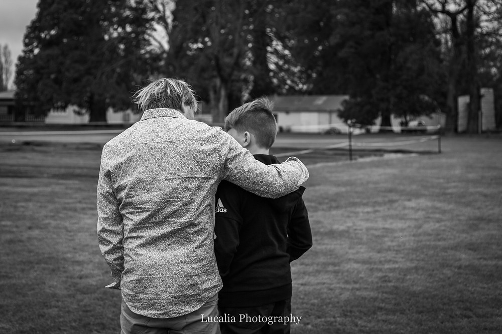father and son in Queen Elizabeth Park, Wairarapa family photographer