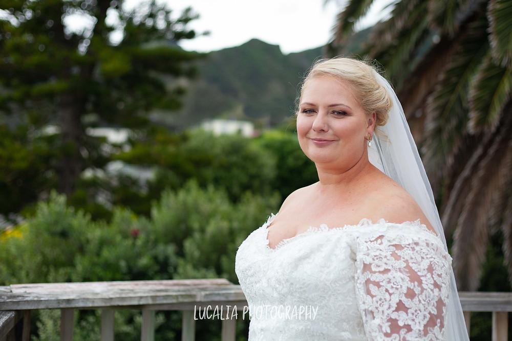 bridal portrait Astra Bridal wedding dress, Ngawi Wairarapa wedding photographer