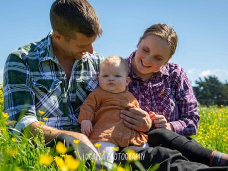 Family photos on the farm, Wairarapa