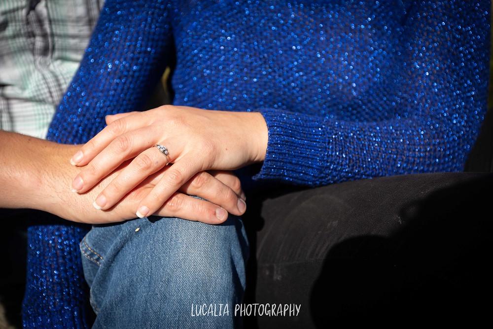 hands with vintage engagement ring, Martinborough Wairarapa wedding photographer