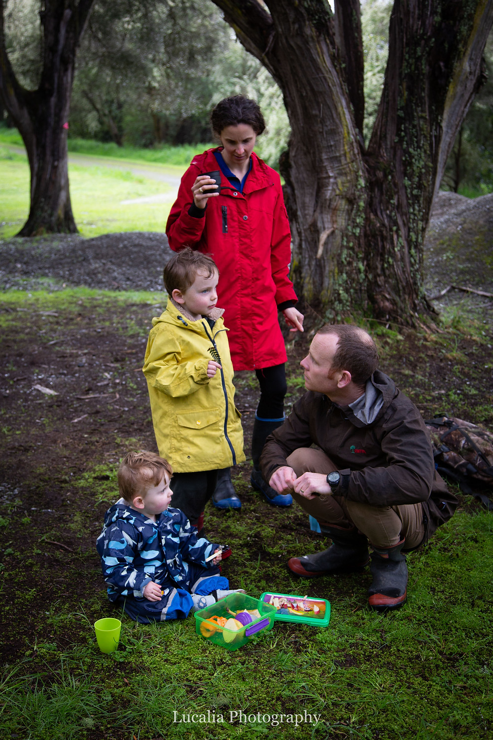family in a forest, Wairarapa family photographer