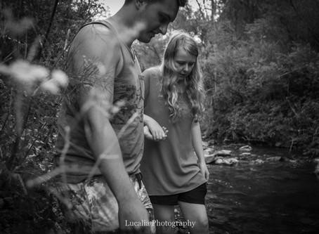 Wairarapa engagement photography: exploring the river with Nat and Josh