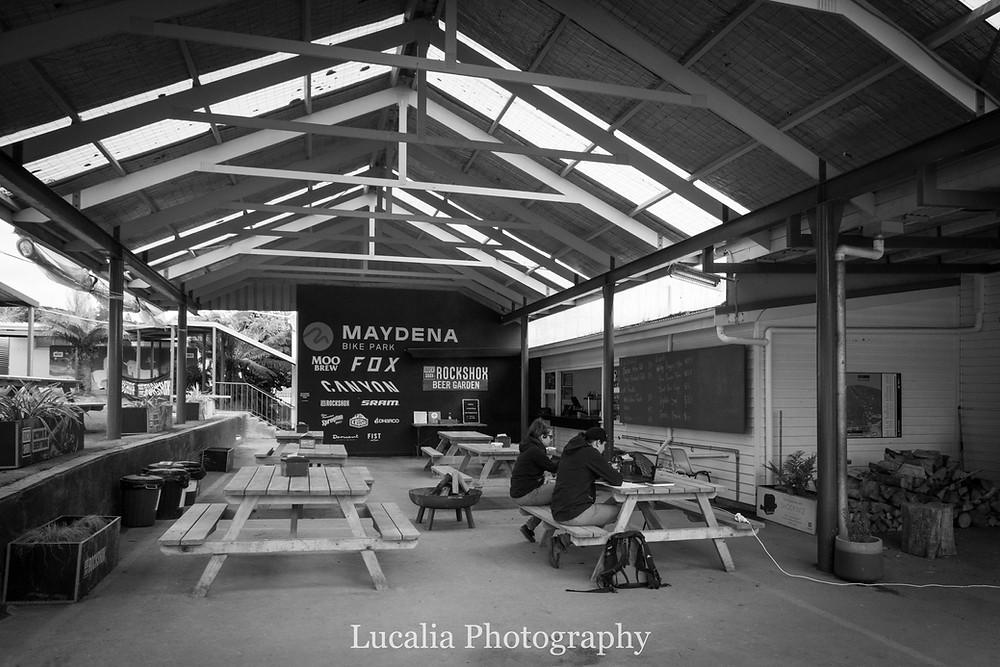 Bar area at Maydena BIke Park, Derwent Valley, Tasmania