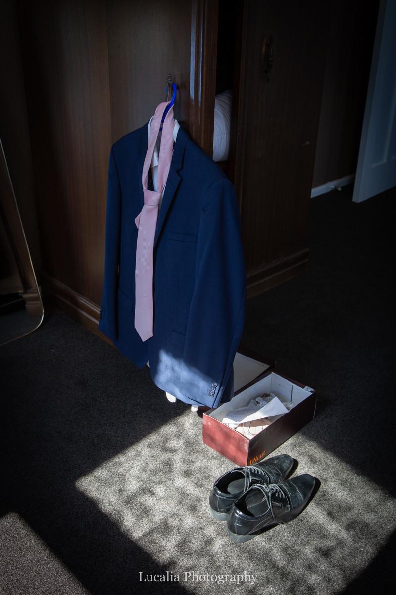 Van Meer Suits hanging up in sun, Wairarapa