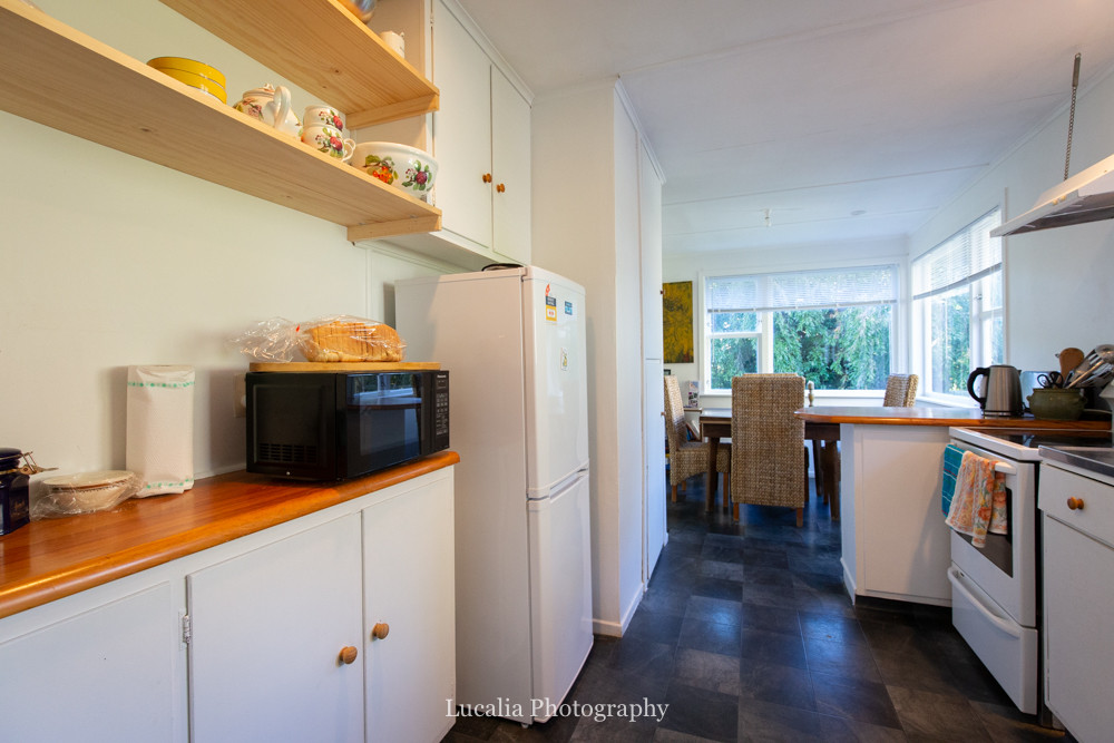 kitchen at High Peaks Farm Stay, Mangamahu, Manawatu-Wanganui, New Zealand