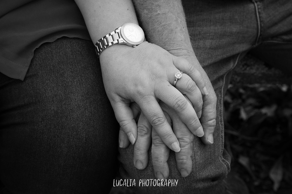 engagement ring on hand, Wairarapa wedding photographer