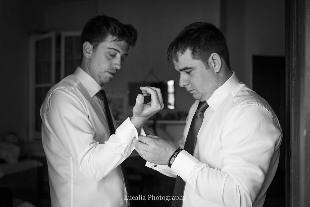groom and best man do up cufflinks, Wairarapa wedding photographers
