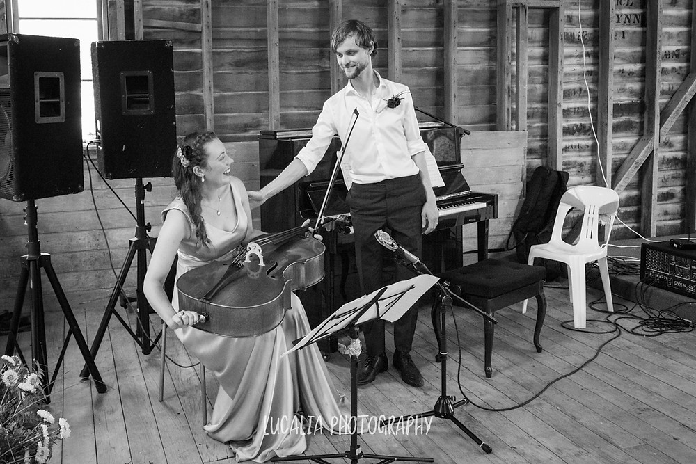 couple smiling after first performance wedding reception, Castlepoint Wairarapa wedding, Lucalia Photography