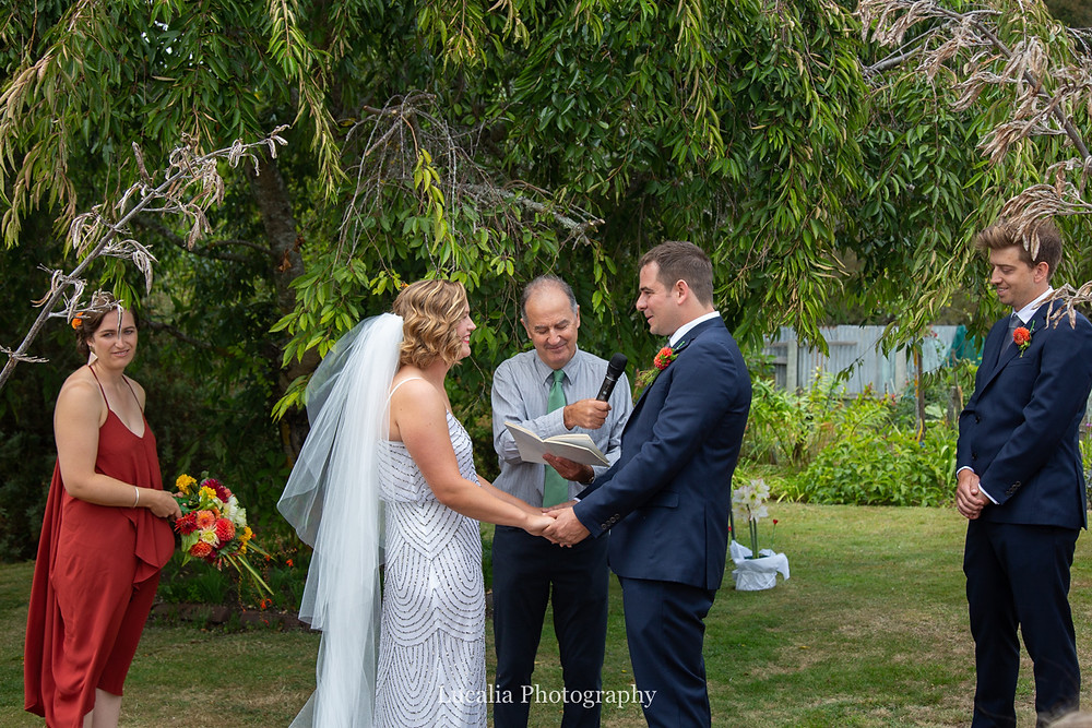 groom saying his vows, Wairarapa wedding photographers