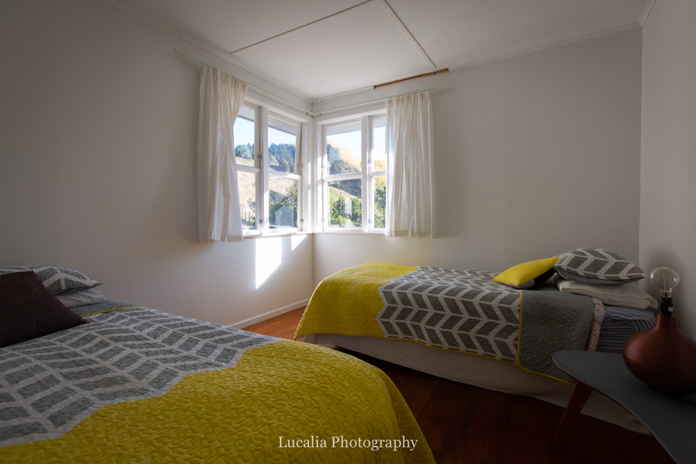 twin room at High Peaks Farm Stay, Mangamahu, Manawatu-Wanganui, New Zealand